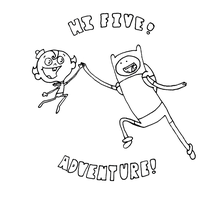 marvelous misadventure time! - line art by DigiZoo
