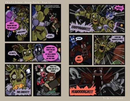 FNAF4 Comic - House Party - Page 72 - 6-8-17 by Mattartist25