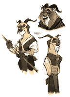Kung fu goats by Greevixor