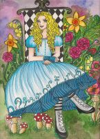 Alice in the Garden _color by Lorelei2323