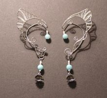 Custom Order Mermaid Ear Wraps by jhammerberg