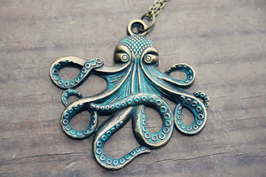 Nautical Octopus Necklace by MythicalFolk