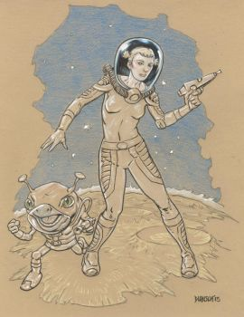 Astro Gal and Friend by Dubisch