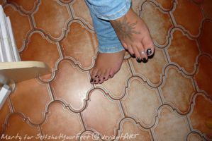 Black Toes, Toerings n Tattoo by SelfshotYourFeet