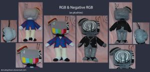 RGB and Negative RGB Plushies by DonutTyphoon