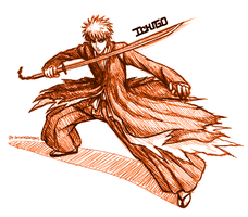 Ichigo's Bankai (Bleach) by SorceressDream