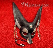 Black Jasper Fennec Fox Mask by merimask