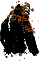Dead Space 2 Splatter - Isaac by JayBoxDesigns