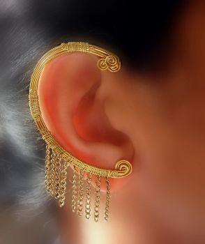 greek goddess ear-wrap by pikabee