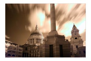 St Paul's In Infrared II by paddimir