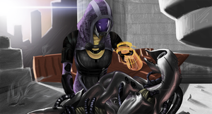 Tali'Zorah Vas Neema by itchcrotch