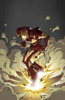 Iron Man takes off by Ullcer
