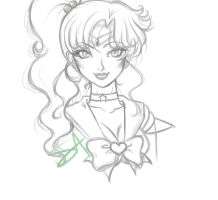 Sailor Jupiter Sketch by beezasaurus
