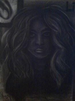 Charcoal Self-portrait by kayte02