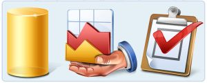 Database Application Icons by artistsvalley