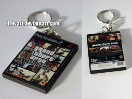Grand Theft Auto: San Andreas (PS2) Keychain by Drevart