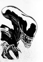 Alien Xenomorph sketch by tomcrielly