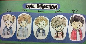 One Direction Cartoons by OhHeyLauren