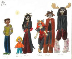 DeadLife Group Drawing by ShoobaQueen