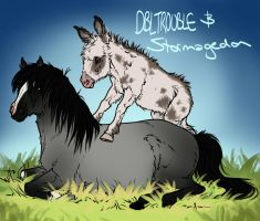 Stormagedon and Trouble by sealle