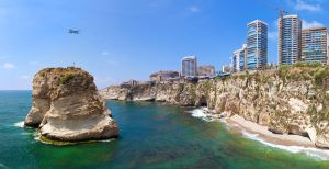 Pigeon Rocks in Beirut by PortraitOfaLife
