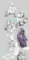 Agents Sketch dump 2012 part 2 by Death-by-Papercuts
