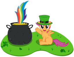 Pot of gold at the end of the rainbow by Stabzor