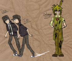 Fnaf3 Characters by LoverRx