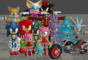 xnalara sonic models by twinlightownz