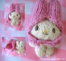 my melody amigurumi alt views by ilovegravy