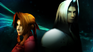 Aeris and Sephiroth: Protector and Destroyer by LoneWolf117