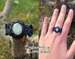 Macrame Moonstone Ring 2 by AziDahakah