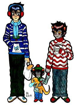 +:Egbert-Vantas Ugly Sweater Family Picture:+ by creativeHellstorm