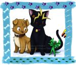 YGO: The dog, cat and lizard by HazuraSinner