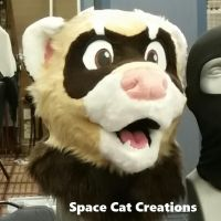 Ferret partial by SpaceCatCreations