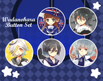 Wadanohara Button Set by h-yde