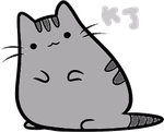 Pusheen the cat by PeachKirbyCutie