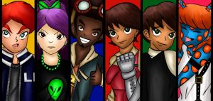 Earth Defenders Cast Colored by Gabby413