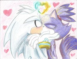 Silvaze color kiss :3 by SonicMiku