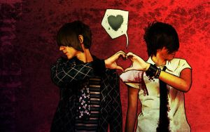 Emo Heart Background by Andraous
