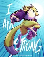 Renamon: I Am Strong by SupaCrikeyDave