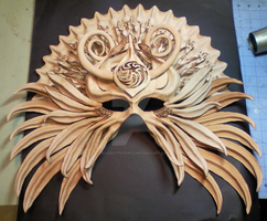 phase 3 - Shamanic Mask - work in progress by RiverGypsyArts