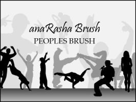 peoples brush by anaRasha-stock