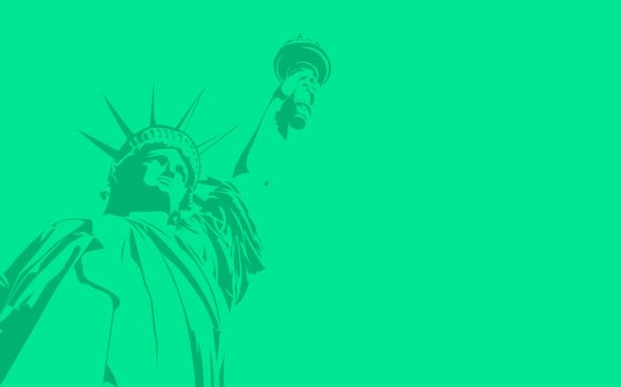 liberty statue simple Wallpaper by scarlettstrid