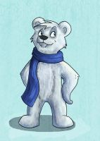 Cartoony Polar Bear by Shockshockshad