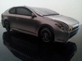 Scion tC Papercraft Side Perspective by gpsc