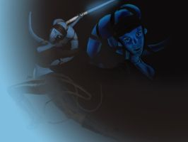 Aayla Secura Unleashed by JillGiovanni