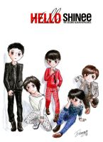 SHINee Hello chibis by Hahi-NeKo