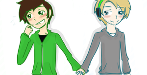 Pewbuscus-Holding hands by NotShowingMyFace