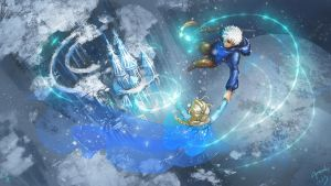 Elsa and Jack Frost~Disney and Dreamworks Unite! by Athena-Erocith